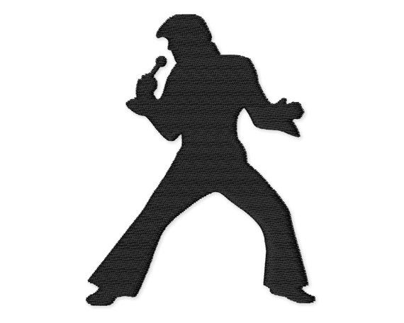 570x456 Elvis Presley Silhouette Embroidery Design By Appliquecreative