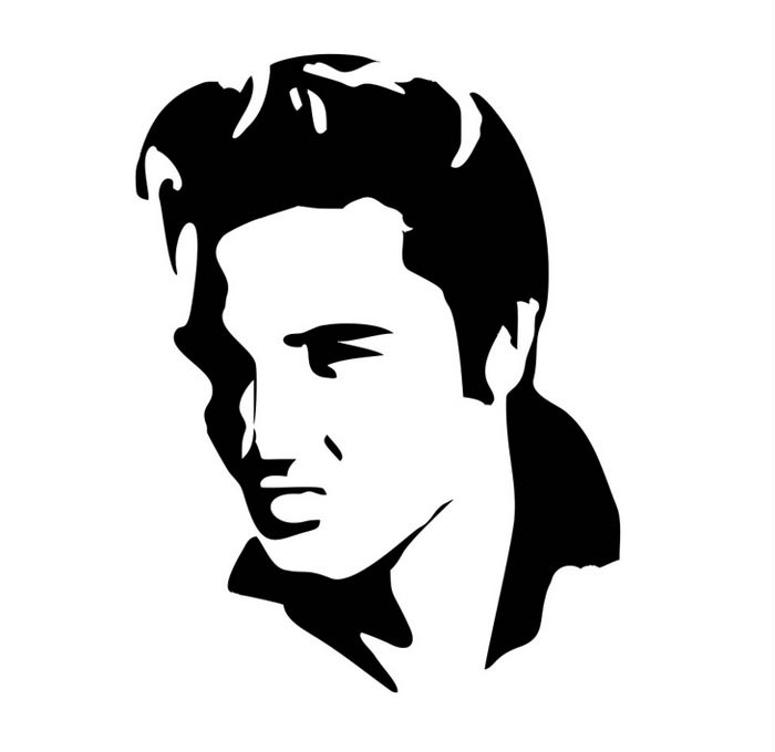 700x680 Elvis Wall Sticker Livraison Gratuite Elvis Presley Silhouette