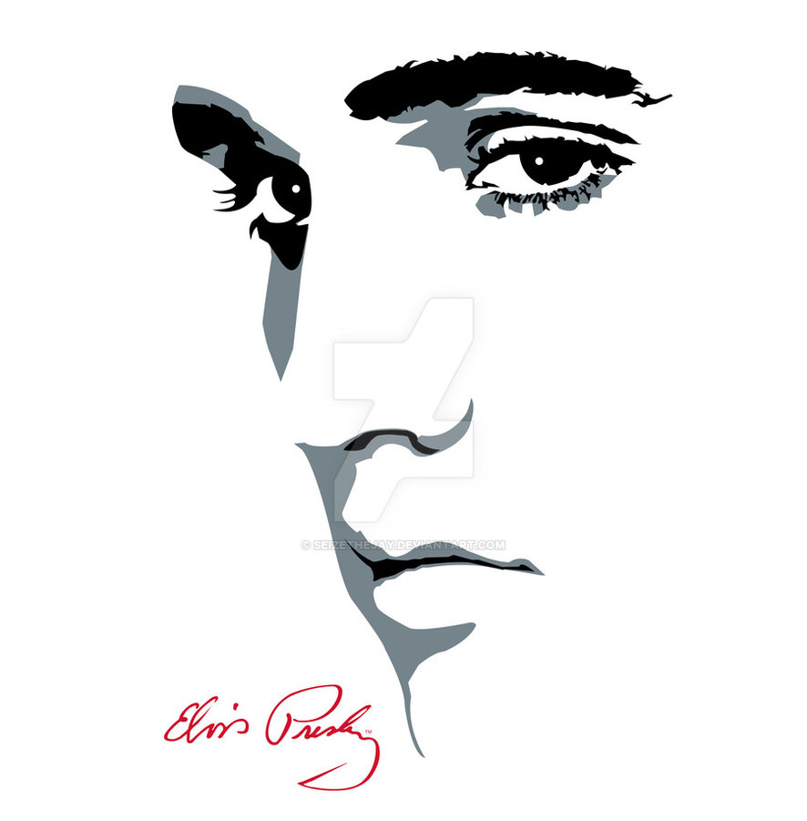 886x901 Elvis Presley Face Silhouette
