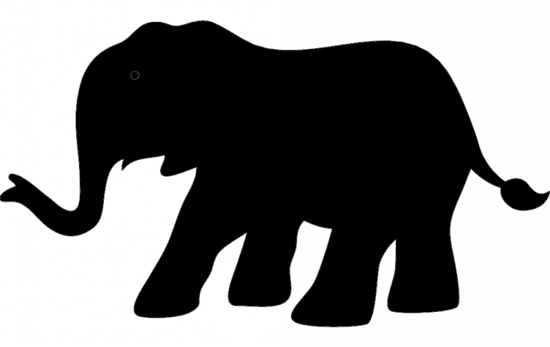 800x505 Elephant Silhouette Vector Dxf File Free Download