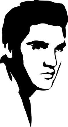 236x439 Elvis Presley Clipart Elvis Presley Stencil