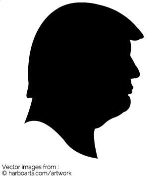 335x355 Donald Trump Profile Silhouette Vector