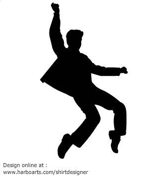 335x355 Rock Star Dancing Silhouette Vector Graphics Rhea