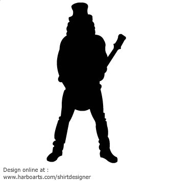 335x355 Rock Star Slash Guitarist Silhouette Vector