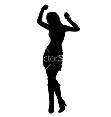 380x400 Dancing Girl Silhouette Vector On Vectorstock Lacee's Party