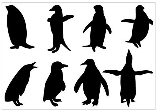 512x363 Penguin Silhouette Clip Art Pack Download Free Penguins, Clip