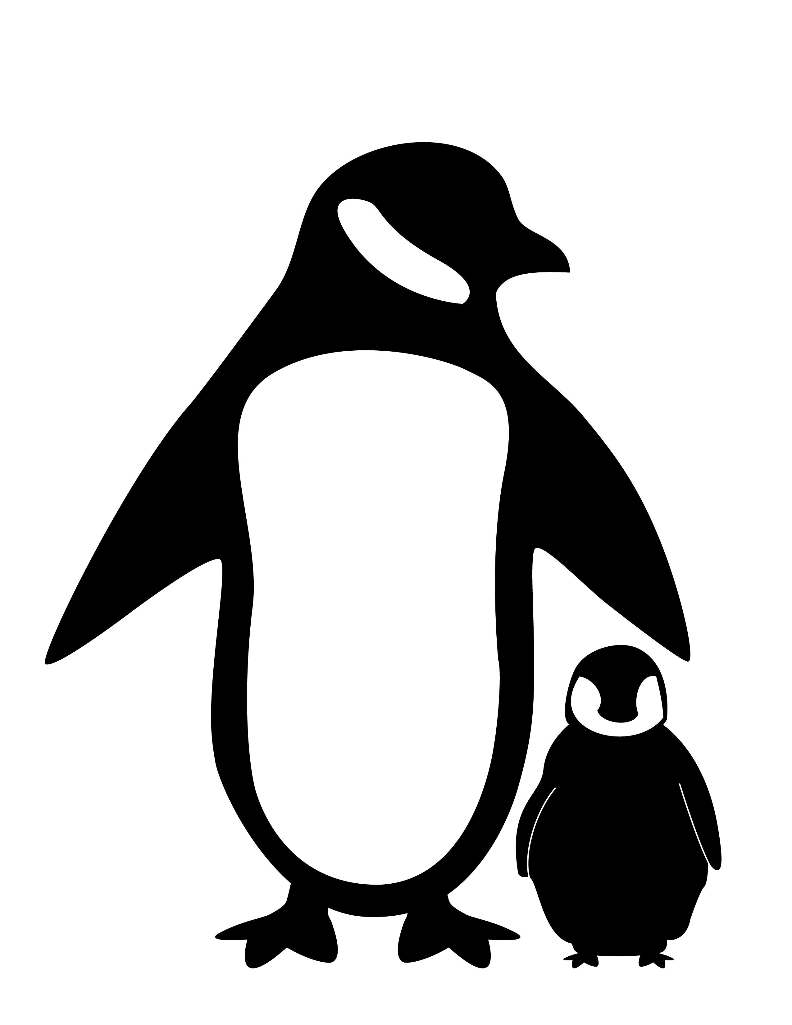 2550x3300 Penguin Silhouette Fc09 Net Black White Penguin