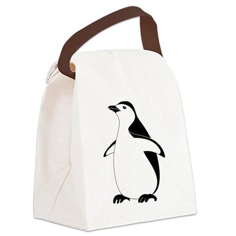 460x460 Bird Emperor Penguin, Silhouette Canvas Lunch Bag By Admin Cp70839509