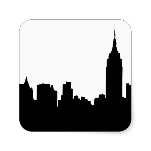 512x512 Nyc Skyline Silhouette, Empire State Bldg Events 40 Before 40
