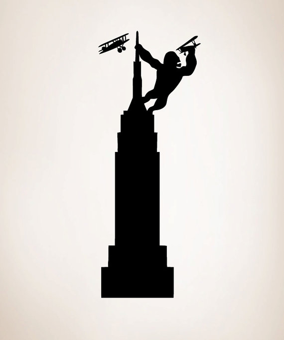 570x682 Vinyl Wall Decal Sticker Kig Kong On Empire State Building