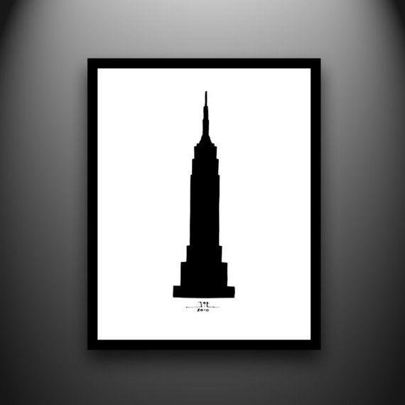 570x570 Empire State Building Silhouette 8x10 Handcut By Papercutsbyjoe