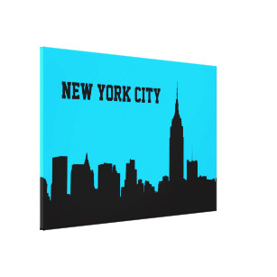 307x307 Empire State Building Wrapped Canvas Prints