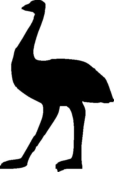 396x595 Emu Silhouette Clip Art