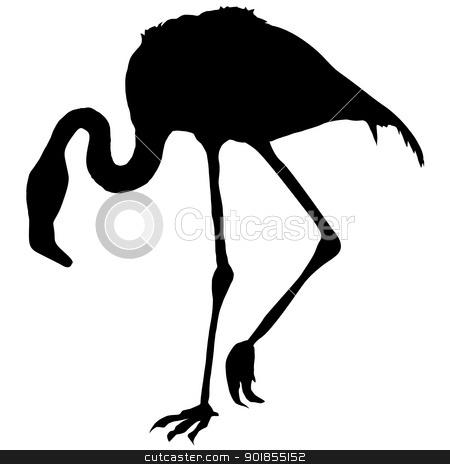 450x464 Flamingo Silhouette Clipart