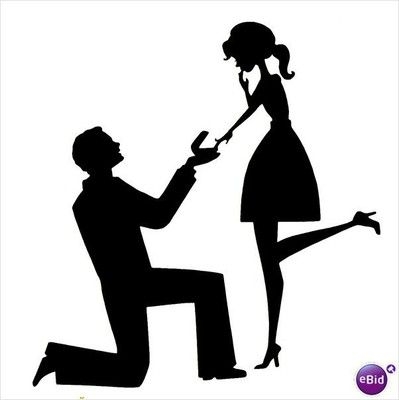 Engaged Silhouette