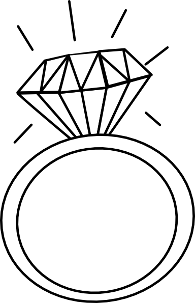384x595 Engagement Ring Outline Clip Art 2