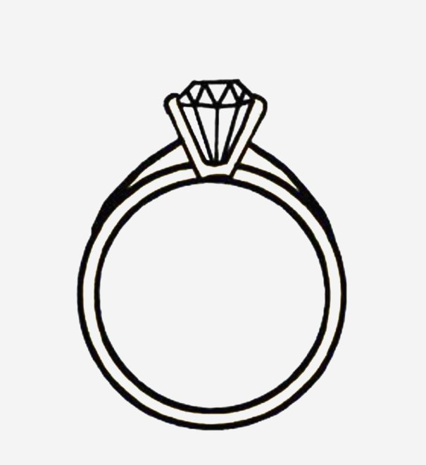 605x660 Engagement Ring Silhouette Familiar Diamond Engagement Rings Clip