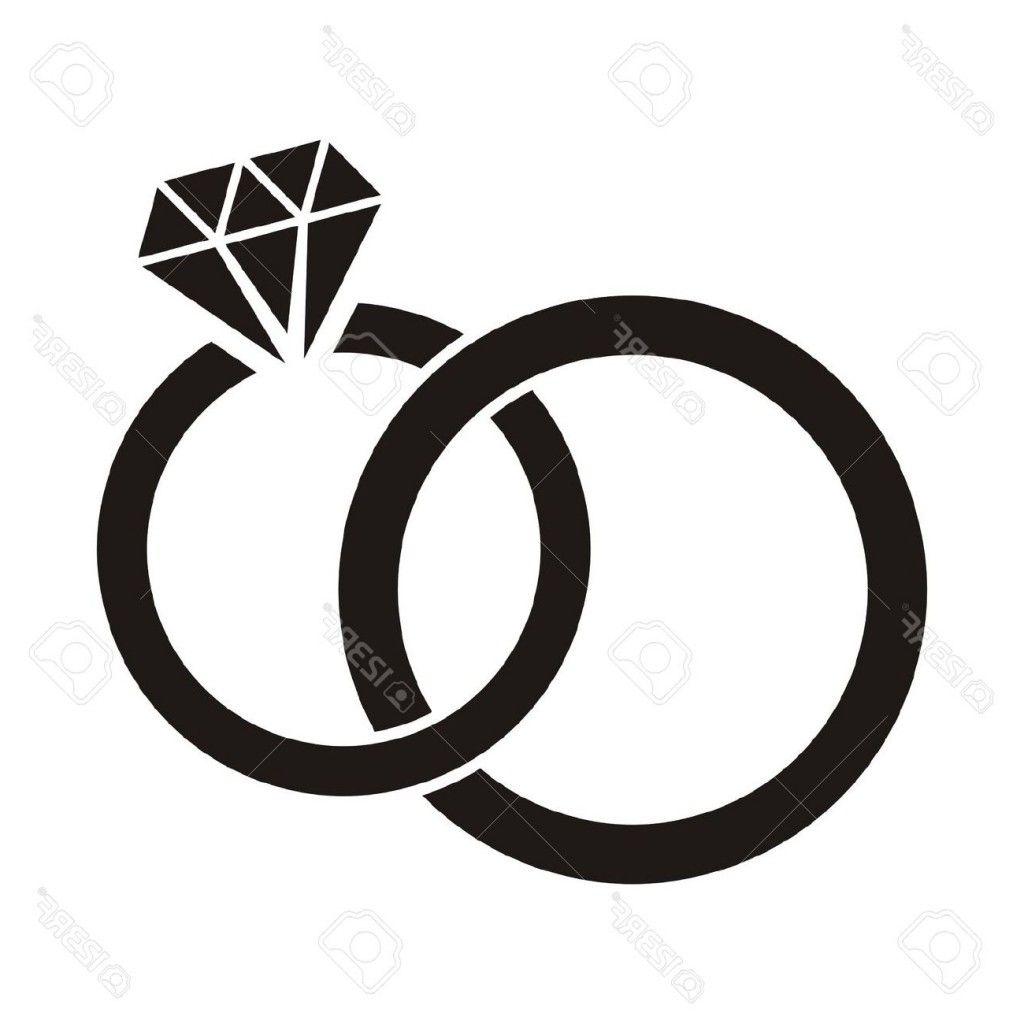 1024x1024 Diamond Ring Clipart Black And White Ring Cricut