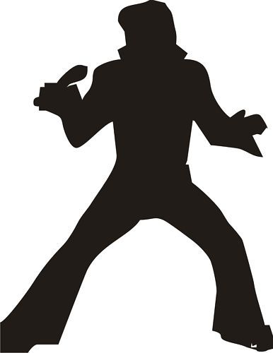 386x500 Elvis Silhouette Vinyl Decal Sticker Car Graphic