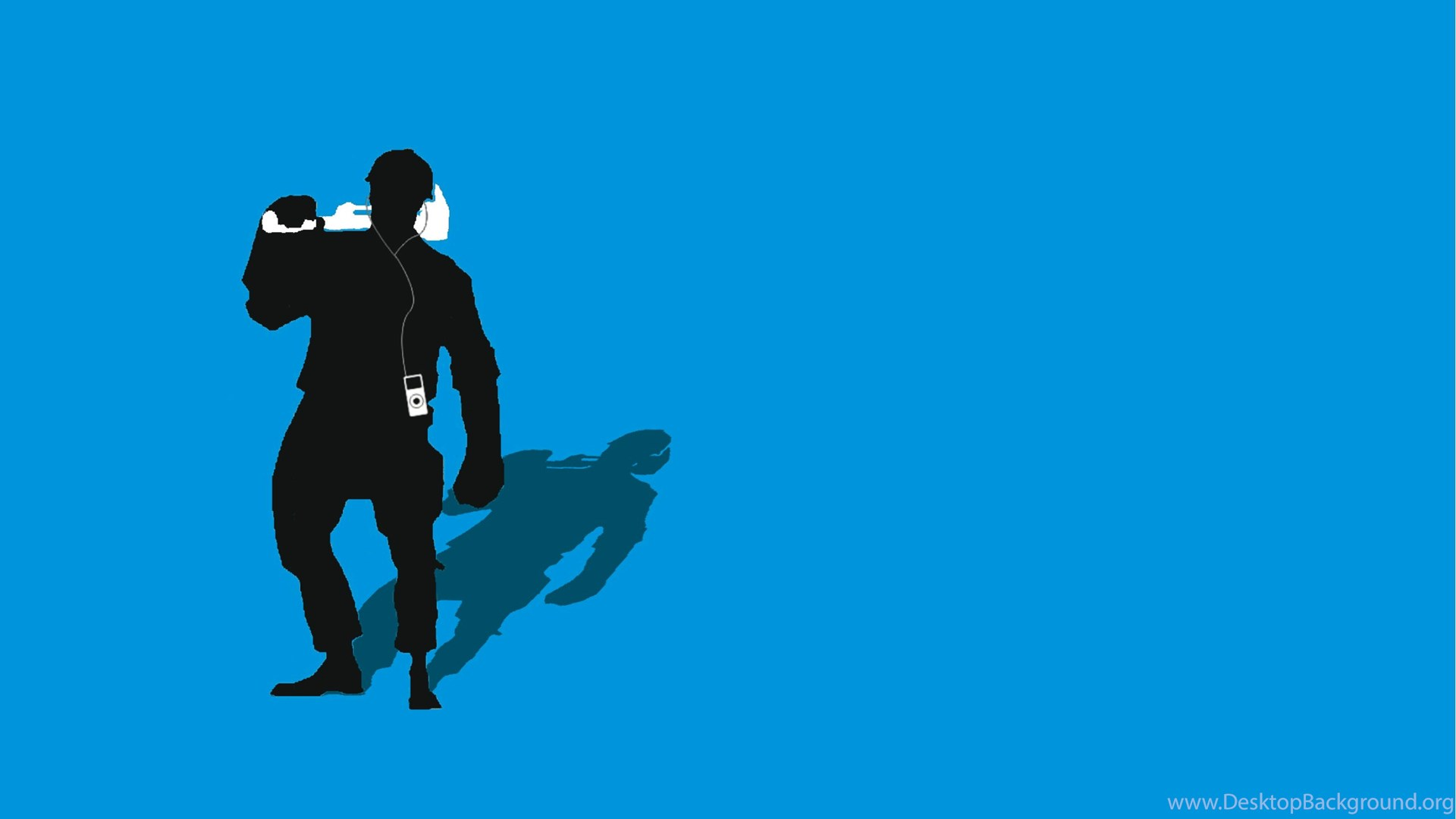 1920x1080 Tf2 Blue Engineer Silhouette Ipodearbuds 2560x1600 By Cwegrecki