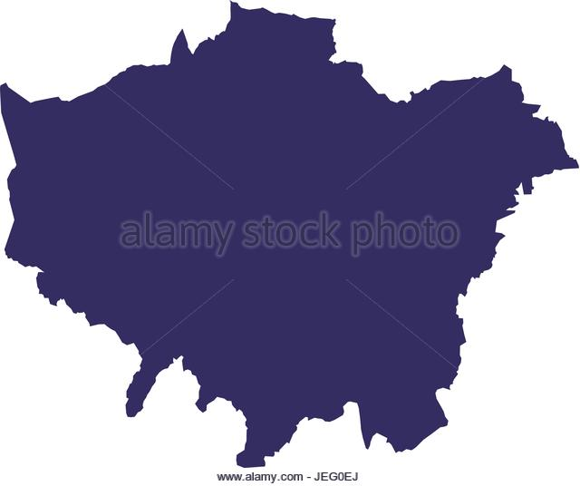 640x536 London Map Silhouette 62910480 Silhouette Of Map Icon London