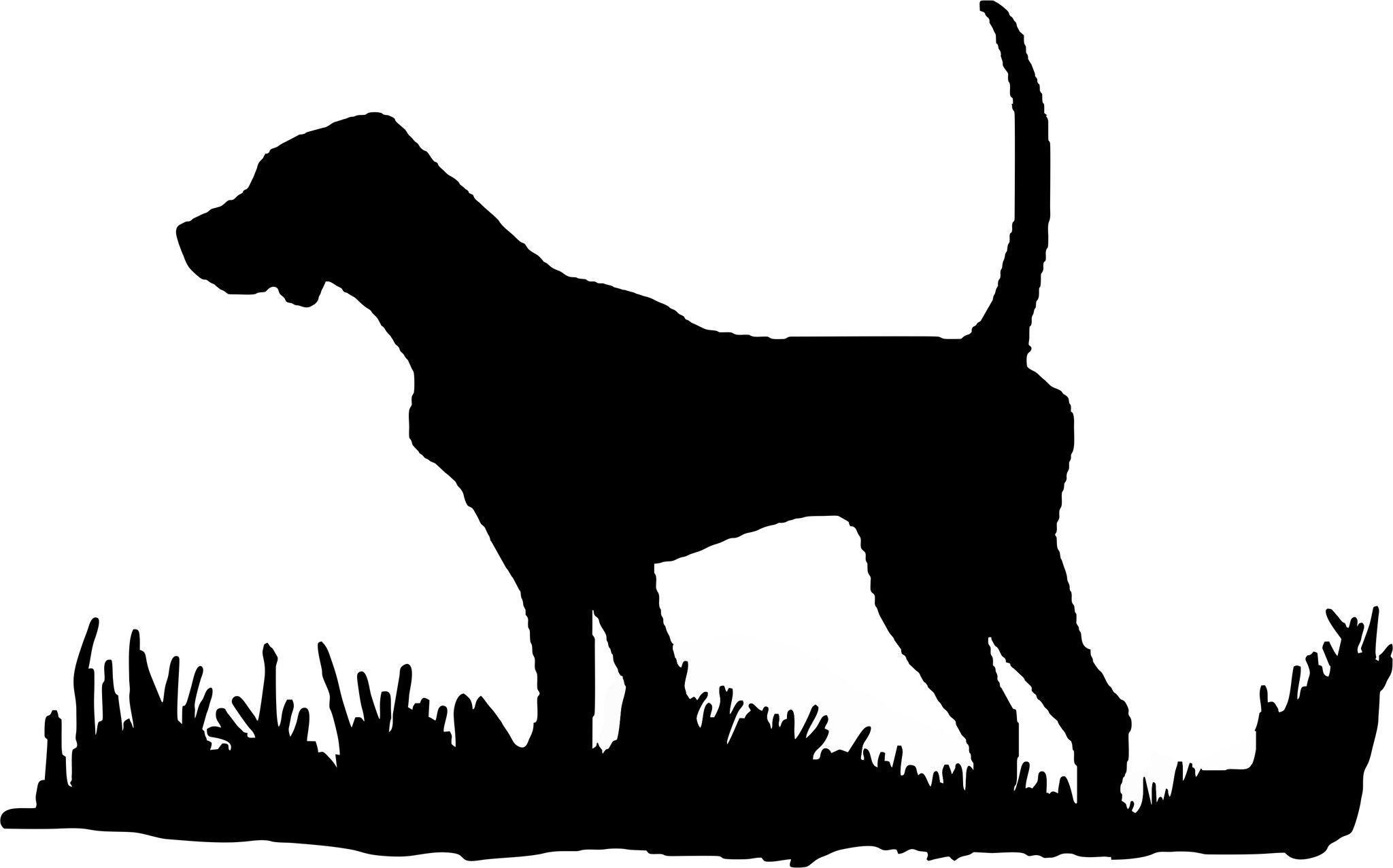 2048x1277 English Pointer Silhouette, Bird Dog Upland Hunting Decal