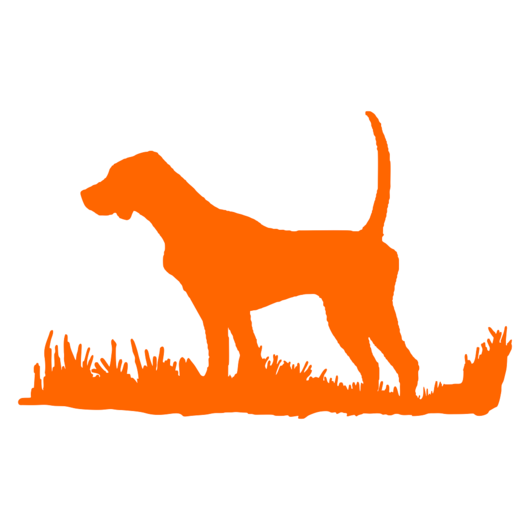 530x530 English Pointer Silhouette, Bird Dog Upland Hunting Decal Modern