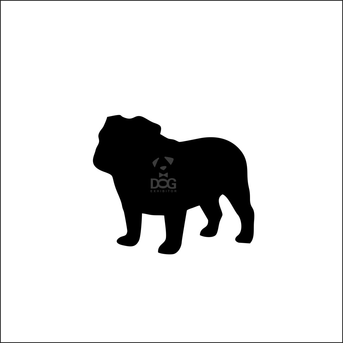 1184x1184 British Bulldog Silhouette Stickers