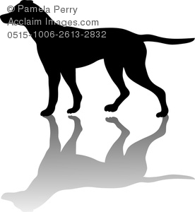 276x300 Clip Art Image Of A Silhouette Of An English Pointer Bird Dog