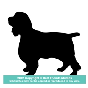 300x300 English Springer Dog Silhouette Gifts, Stationery, Address Labels