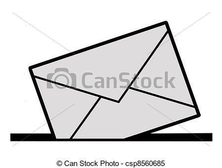 450x341 Silhouette Envelope On White Background Stock Illustrations