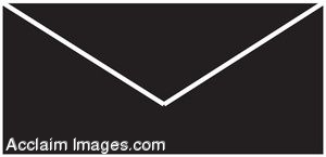 300x145 Clip Art Illustration Of An Envelope Silhouette