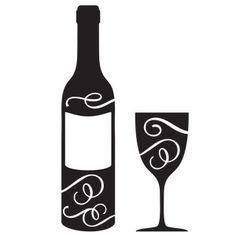 236x236 Wine Glass Stickers Wine Glass Vinyl Decal Kitchen Vinyl