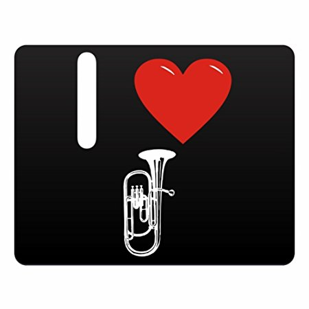 450x450 Eddany I Love Baritone Horn Silhouette Horizontal Sign Amazon.co