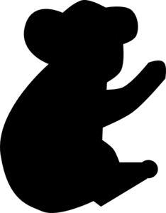 234x299 Koala Silouette Koala On Branch, Both Silhouette Logo By