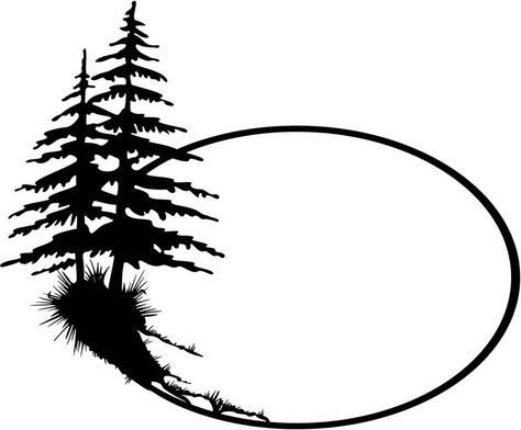 474x392 Evergreen Tree Outline