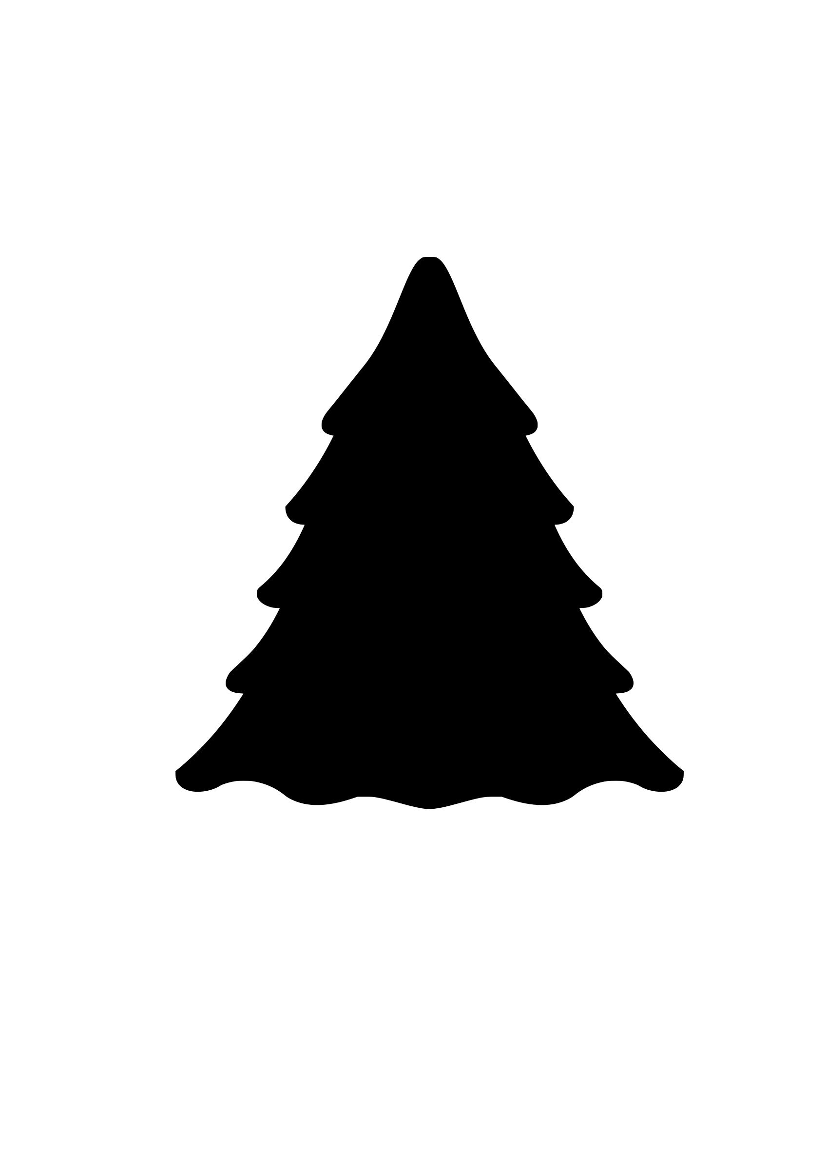 1697x2400 Evergreen Tree Silhouette Icons Png