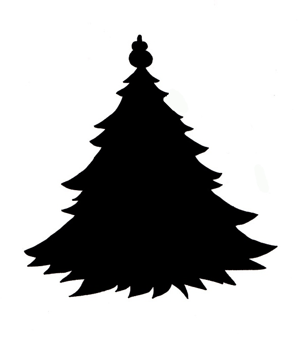 588x661 Christmas Tree Silhouette Clip Art