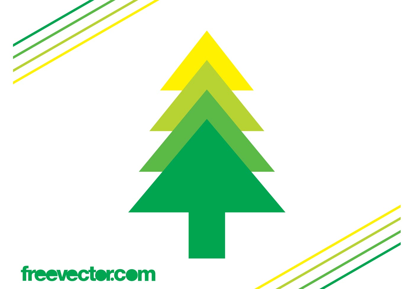 1400x980 Evergreen Tree Silhouette Free Vector Art