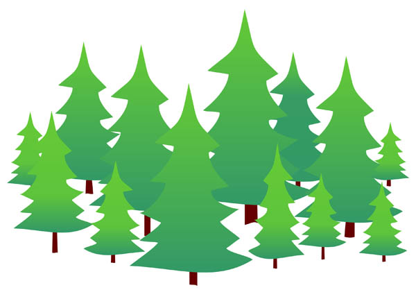 600x431 Evergreen Tree Clipart Simple Collection