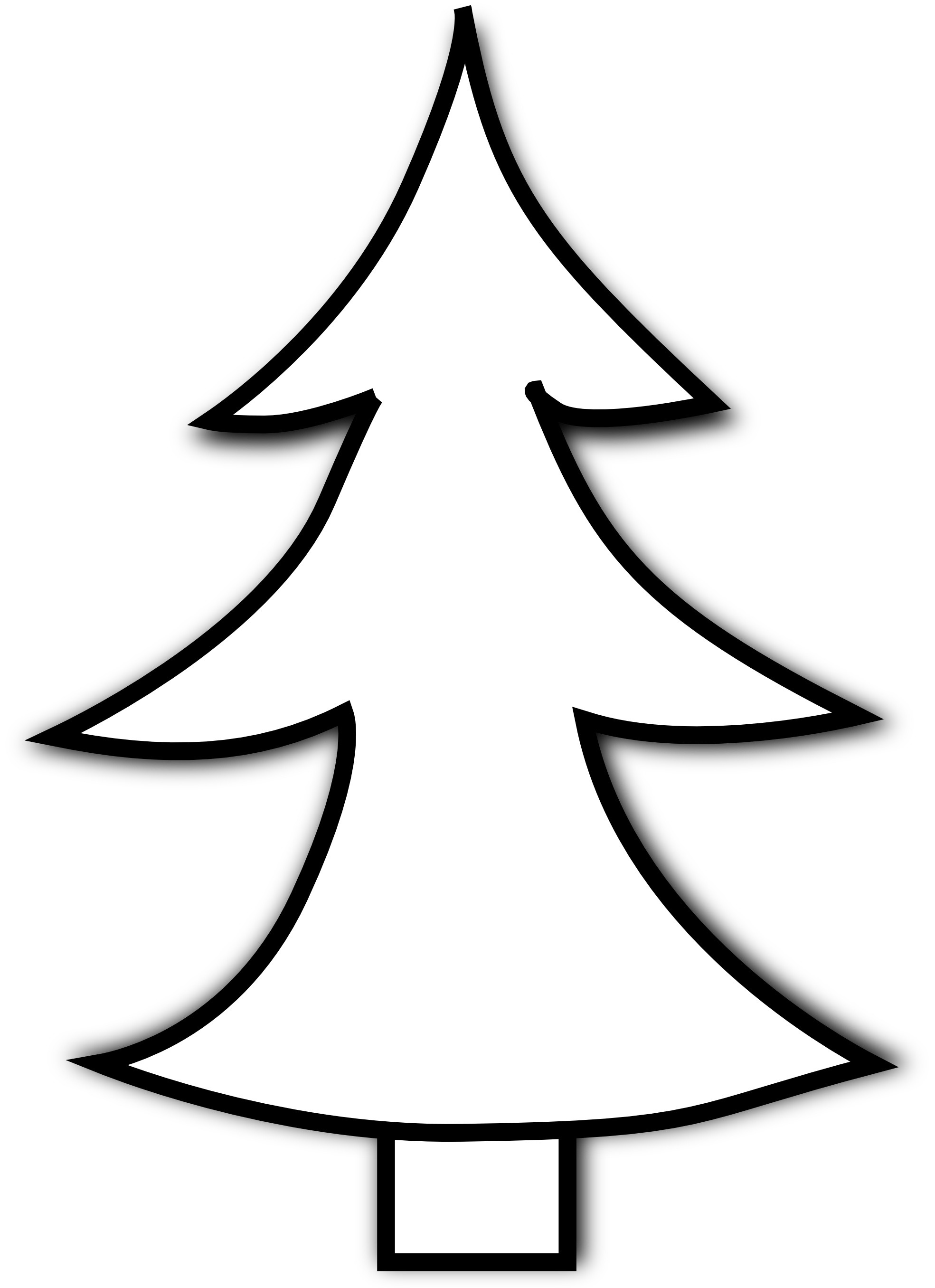 1969x2712 Fir Tree Clipart Black And White