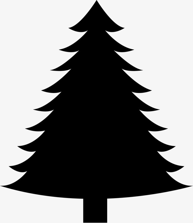 Evergreen Trees Silhouette At Getdrawings Com