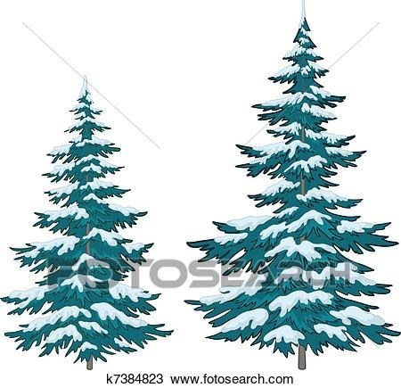 450x435 Snowy Evergreen Tree Clipart Simple Living Tree In The World Places
