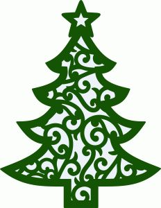 232x300 Christmas Tree Silhouette Clipart