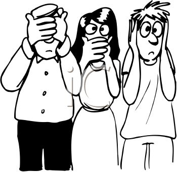 350x341 Royalty Free Clipart Image Black And White Cartoon Of People