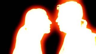 320x180 Zombie Glow Madman Sneering. An Evil Man Sneering While Looking