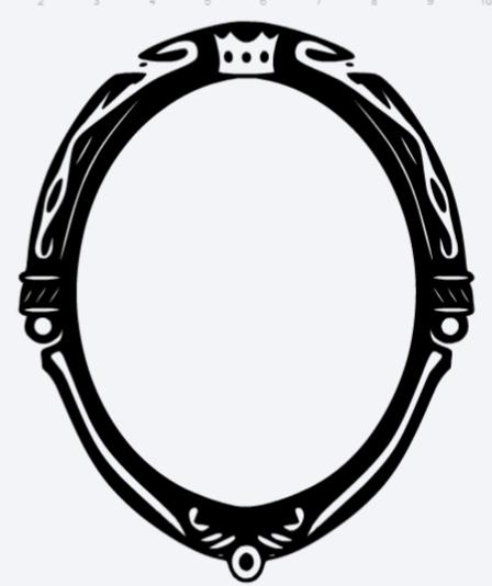 448x534 Evil Queen's Magic Mirror Disney Silhouettes Magic