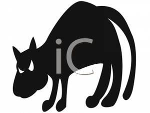 300x225 Silhouette Of An Evil Black Cat