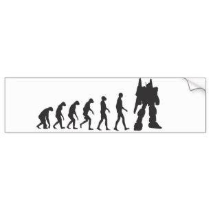 307x307 Evolution Silhouette Stickers Zazzle