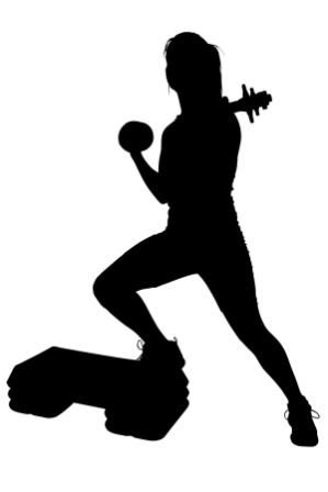 299x448 20 Best Exercise Silhouettes Images On Healthy Living